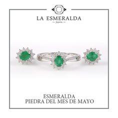 e319ff00eb5e JUEGO DE ORO BLANCO CON ESMERALDA Y DIAMANTES. Diamante Verde