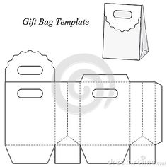Shopping bag blueprint google search boxes pinterest blank gift bag template with round lid stock vector image 48154666 malvernweather Choice Image