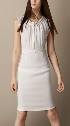 Burberry Layered Panel Dress