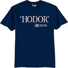 Hodor Game Of Thrones Fan T Shirt Navy Xl