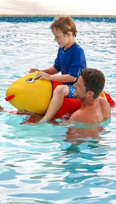 A 4 ft. frog floating in the pool is sure to make an impression, as will Ruby Fish and Rhett Fish. Young swimmers will have loads of fun frolicking with these lightweight, plush creatures.