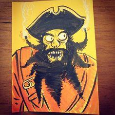 Edward Teach @Sketch_Dailies #sketch_dailies #blackbeard