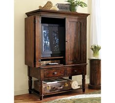 LIKE! The Mason media cabinet or armoire, as it is called, was crafted from thick planks of hardwood so its durable and resistant.