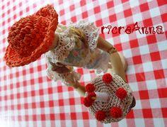 Cake fridge magnet crocheted torta calamita all'uncinetto