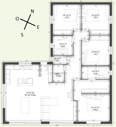 Dream House Plans, House Layouts, Planer, My House, Sweet Home, Floor Plans, House Design, Cabin, Flooring
