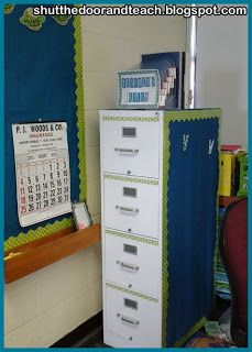 Cute file cabinet makeover with directions