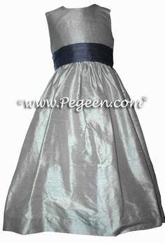 Eurolilac and fawn junior bridesmaids dress