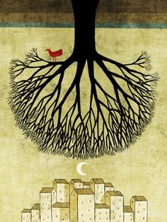 Toni Demuro. The Trees, 2011 - International Year of Forest. Series of 238 illustrations.