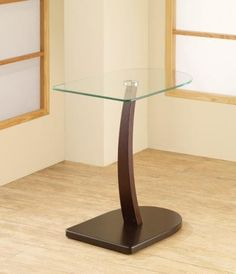 Coaster Accent Tables Semi-Oval Snack Table with Glass Top - Coaster Fine Furniture Coaster Fine Furniture, Oval Coffee Tables, Tall Table, Sofa End Tables, Side Tables, Home Furnishings, Home Decor, Dark Brown, Snack Tables