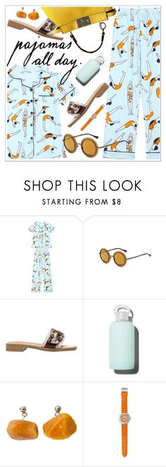 """""""Lazy sunday"""" by teoecar ❤ liked on Polyvore featuring bkr, ootd, trend, sunday, pajamas and topset"""