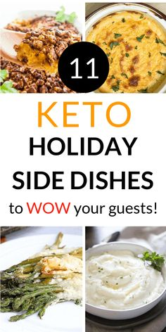 11 Keto Holiday Side Dishes To Wow Your Friends – One Wholesome Life The best keto Thanksgiving side dishes for Thanksgiving or Christmas. So many yummy and easy side dishes including green beans, stuffing, brussels sprouts, gluten free, and vegan. Thanksgiving Side Dishes, Thanksgiving Recipes, Holiday Recipes, Keto Thanksgiving Dinner, Holiday Meals, Easter Recipes, Recipes Dinner, Lunch Recipes, Salad Recipes