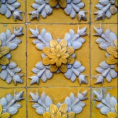 Coimbra, Portugal - handmade tiles can be customized Love the blue/grey ///gold Antique Tiles, Vintage Tile, Tile Art, Mosaic Tiles, Cement Tiles, Wall Tiles, Mosaic Art, Portugal, Portuguese Tiles