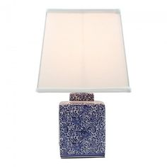 Blue & White Short Jar Table Lamp $99 Recollections