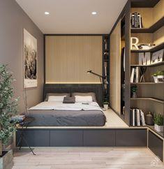 Home Room Design, Small Room Design, Home Interior Design, House Design, Modern Minimalist Bedroom, Modern Bedroom Design, Small Modern Bedroom, Minimalist Décor, Small Room Bedroom