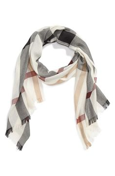 Burberry Check Scarf available at #Nordstrom