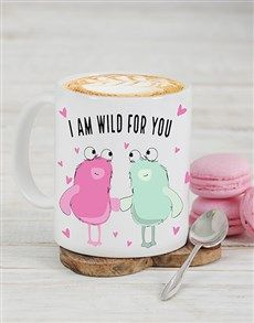 gifts: Personalised Wild For You Mug! Valentines Day For Him, Valentine Day Gifts, Flower Delivery Service, Personalized Gifts, Mugs, Flowers, Customized Gifts, Tumblers, Mug