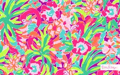 Lilly Pulitzer Lulu Print- Wallpaper
