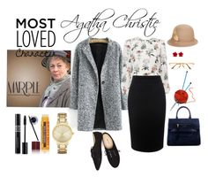 """""""Most loved character: Miss Marple"""" by thebeatathings ❤ liked on Polyvore featuring Alexander McQueen, Persol, Marc Jacobs, Betmar, Wet Seal, Chanel, Forum, Kate Spade, Burt's Bees and Maybelline"""