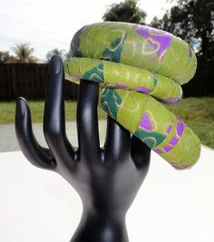 African Jewerly Handmade  African print bangles by ZabbaDesigns, $10.00