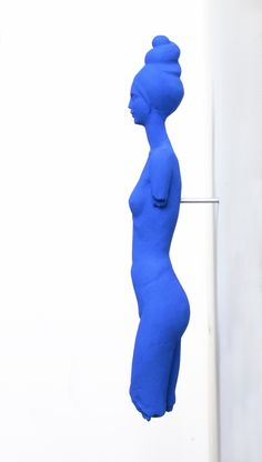 Blue Woman by Damian Fennell, 2005. Crystacal superhard plaster, aluminium and pigment.