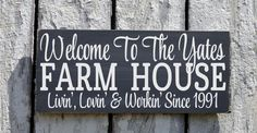 Personalized Farm House Sign, Welcome To The Farm Family Name Plaque Established Since Date Farming Farmer Outdoor Decor Custom Home Sign