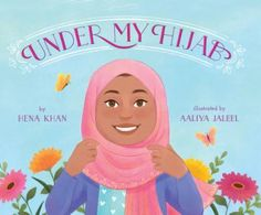 Grandma's hijab clasps under her chin. Auntie pins hers up with a whimsical brooch. Jenna puts a sun hat over hers when she hikes. Iman wears a sports hijab for tae kwon do. As a young girl observes the women in her life and how each covers her hair a different way, she dreams of the possibilities in her own future and how she might express her personality through her hijab.