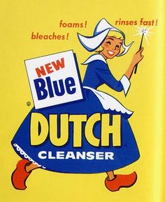LAUNDRY~Blue Dutch cleanser girl