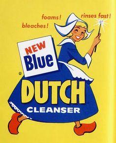 Blue Dutch cleanser girl