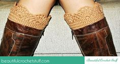 Fabulous inspiration for crochet lace boot cuffs. I love this picture.