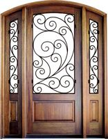 This door might work for my entry...I love the wrought iron!