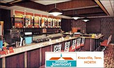 Howard Johnson in Knoxville, Tennessee Vintage Hotels, Vintage Travel, Howard Johnson Hotel, Century Hotel, Mid Century, Howard Johnson's, Vintage Restaurant, Vintage Advertisements, Retro Ads