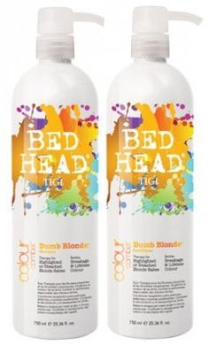 Bed Head Dumb Blonde Shampoo & Conditioner - convinced it's what helped my hair grow out so healthily the first time I grew it past the small of my back