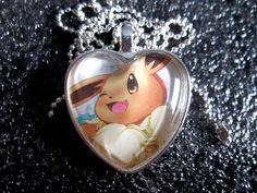 Eevee  Huggable Cutie HOLO  handmade pendants by BlackManaBurning, $10.50