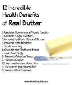 12 Incredible Health Benefits of Real Butter! #wellness #nutrition #healthy…