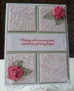 Lovely card made using the Beleek technique by cherrylynne.enriquez