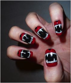 11 Halloween Nail Art Trends | Go Tidbits check out www.MyNailPolishObsession.com for more nail art ideas.
