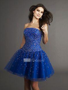 3a8c81c951be1e Blauw jurkje met strass-steentjes Schattige Jurkjes