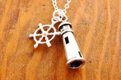 Lighthouse Necklace  ship wheel necklace light house by MegusAttic, $29.00