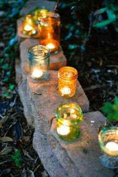 Turn Old Jars Into Pretty Colored DIY Votives - Henry Happened