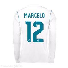 19 Real Madrid 2017-18 Home Marcelo 12 Long Sleeved Football Shirt Soccer  Jersey Kit 5da71992dc70d