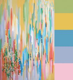 Have class choose a color palette at the hardware store as HW...they would bring the canvas & paint colors to create an abstract painting in class.