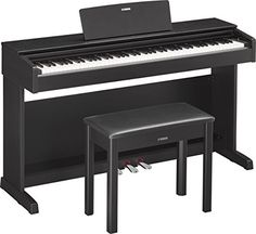 Yamaha YDP143B Arius Series Console Digital Piano with Bench, Black -- Check this awesome product by going to the link at the image.