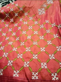 Simple Embroidery Designs, Hand Embroidery Design Patterns, Hand Embroidery Videos, Embroidery Stitches Tutorial, Hand Work Embroidery, Tambour Embroidery, Hardanger Embroidery, Kutch Work Saree, Kutch Work Designs