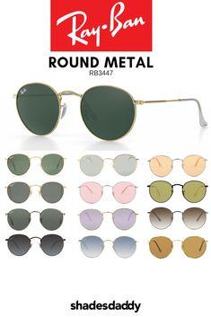 4a19eb06bc Ray-Ban RB3447 Round Metal Sunglasses available at shadesdaddy.com Round  Metal Sunglasses