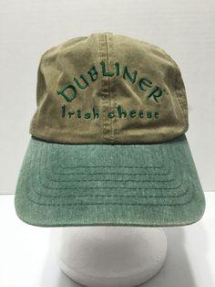 39b83aca773 Dubliner Irish Cheese Slide Back Hat Cap Green Cotton Green Unique HTF  CAP   BaseballCap
