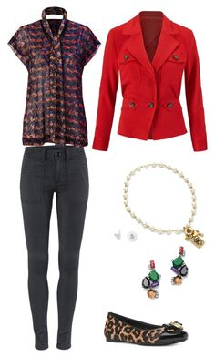 """""""Bonus Blouse, LRG and The Quest"""" by aldavila on Polyvore featuring CAbi and Michael Kors"""