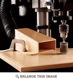 Nur eine Idee, da die Ständerbohrmaschine in der Holzwerkstatt ja direkt neben dem Shopbot-PC steht?