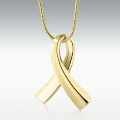 Ribbon Solid 14k Gold Cremation Jewelry – Engravable