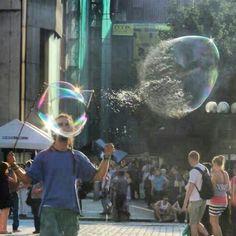 Bubble. Splash. Just moment. Amazing.