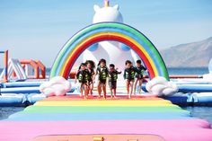 Inflatable Island, a floating play park in the Philippines, just expanded their offerings to include an entire section themed with unicorns and rainbows. Subic Bay, Les Philippines, Philippines Travel, Unicorn Island, Inflatable Island, Bouncy House, Exotic Beaches, Pool Floats, Strand